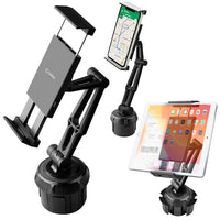 PH620 -  Cellet Tablet/Smartphone Cup Holder Mount, Heavy Duty Automobile Cup Holder Mount with Adjustable Base and 360 Degree Rotation Compatible to iPads, Tablets, Smartphones, GPS Systems and more