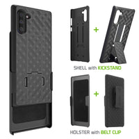 HLSAMN10 - Belt Clip Holster & Shell Case with Kickstand Heavy Duty Protection - Galaxy Note 10