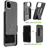 HLIPH11PRO -IPhone 11 Pro Belt Clip Holster & Shell Case with Kickstand Heavy Duty Protection