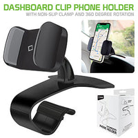 PHD255 - Dashboard Phone Holder Cradle Non Slip Clip Mount Adjustable