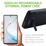 BSAMN10BK - Cellet Samsung Galaxy Note 10 Portable 5000mAh Heavy Duty Rechargeable External Power Case, Extended Battery Charging Case Compatible to Samsung Galaxy Note 10