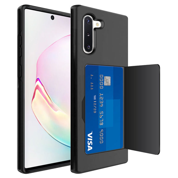CCSAMN10 -Durable Slim Protective Wallet Case - ID & Credit Card Holder Slot - Galaxy Note 10
