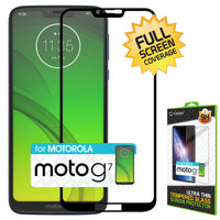 SGMOTOG7 - Motorola Moto G7 Play Full Coverage Screen Protector, Premium 3D Full Coverage Tempered Glass Screen Protector for Motorola Moto G7 Play by Cellet
