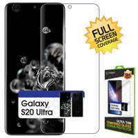 STSAMS20U - Cellet Samsung Galaxy S20 Ultra TPU Screen Protector, Full Coverage Flexible Film Screen Protector Compatible to Samsung Galaxy S20 Ultra