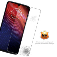SGMOTZ4 - Motorola Moto Z4 Tempered Glass Screen Protector, Cellet 0.3mm Premium Tempered Glass Screen Protector for Motorola Moto Z4 (9H Hardness)