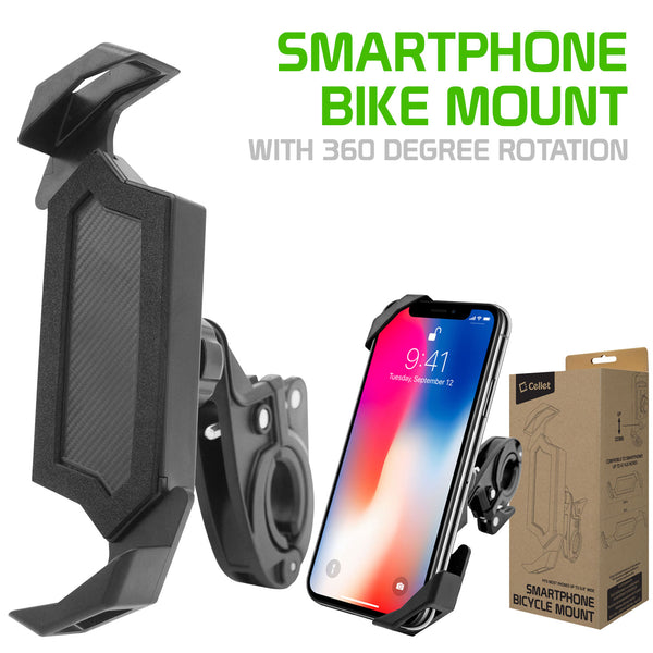 "PHBIKE10 - Bike Smartphone Mount, Universal Heavy Duty Bicycle Holder Mount With 360 Degree Rotation Compatible to iPhone 12 Pro Max/12 Pro/ 12, iPhone 11 Pro Max/ 11 Pro/11, Samsung Galaxy Note 20/20 Plus and Other 4.7""-6.8"" Devices"