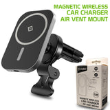 PHWM15 - MagSafe Wireless Charging Phone Holder, Magnetic Air Vent Wireless Charger Phone Mount with Vent Stabilizer Only Compatible to iPhone 12, 12 Pro, 12 Pro Max and 12 Mini