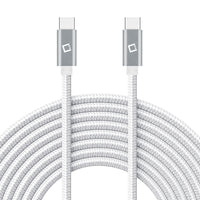 DCDC4WT - Type-C Charging Cable, 4ft. Type-C to Type-C Fast Charging and Data Sync Cable Compatible to Samsung Galaxy S21, S21 Plus, S21 Ultra, and more - White
