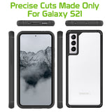 CCSAMS21HBK - Samsung Galaxy S21, Slim Transparent and Scratch Resistant Case Compatible to Samsung Galaxy S21