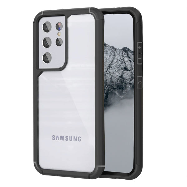 CCSAMS21UHBK - Samsung Galaxy S21 Ultra, Slim Transparent and Scratch Resistant Case Compatible to Samsung Galaxy S21 Ultra