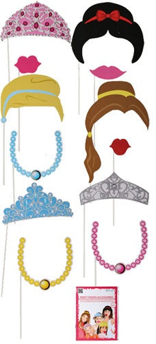 Princess Party Photo Props (12 Pieces)
