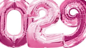Pink Number Supershape Helium Filled Foil Balloon