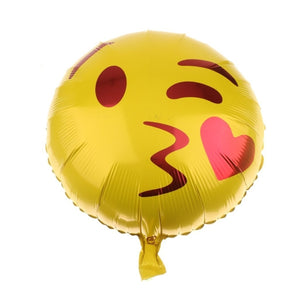 Kiss Emoji Helium Filled Foil Balloon