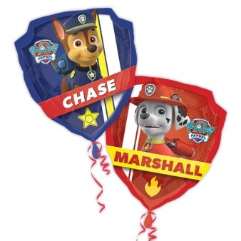 Paw Patrol Chase And Marshall 2-Sided Supershape Helium Filled Foil Balloon