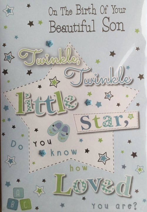 On The Birth Of Your Beautiful Son Greeting Card
