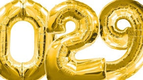 Gold Number Supershape Helium Filled Foil Balloon