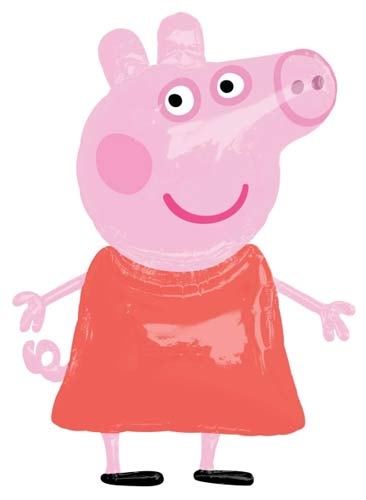 Peppa Pig Helium Filled Air Walker Foil Balloon