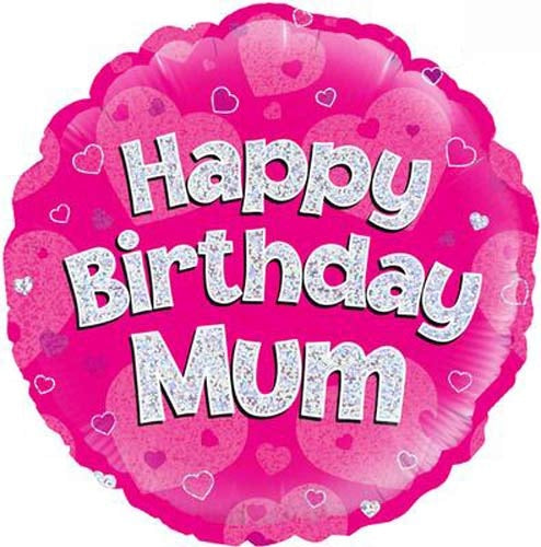 Happy Birthday Mum Helium Filled Foil Balloon