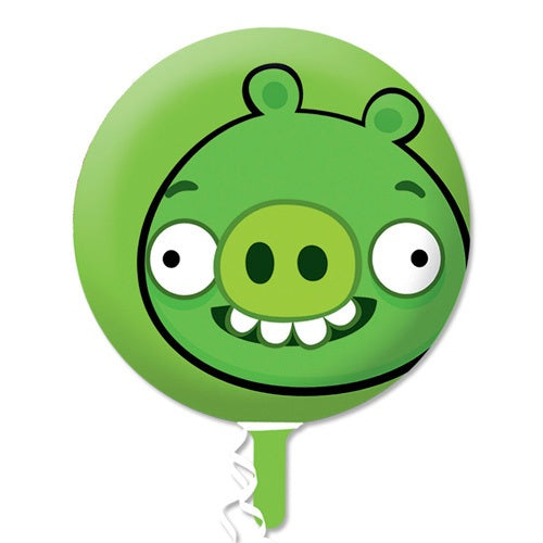 Angry Birds Green Pig Helium Filled Foil Balloon