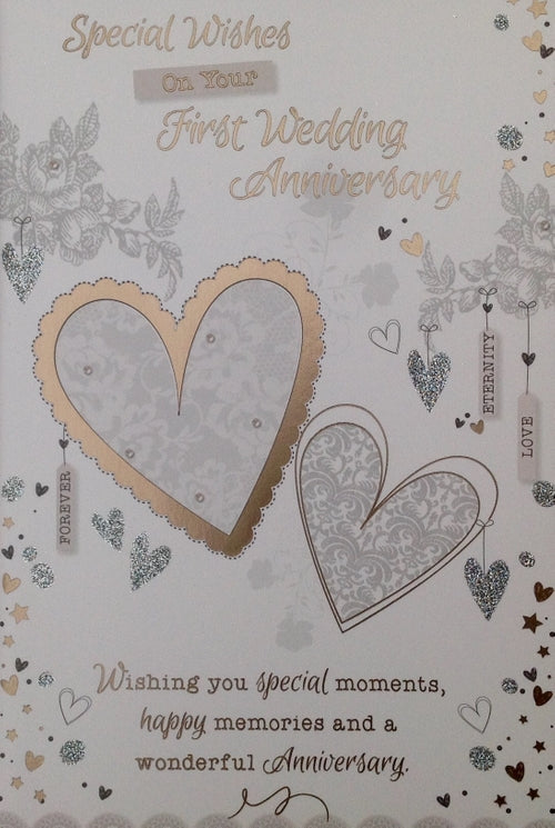 Special Wishes On Your First Wedding Anniversary Greeting Card