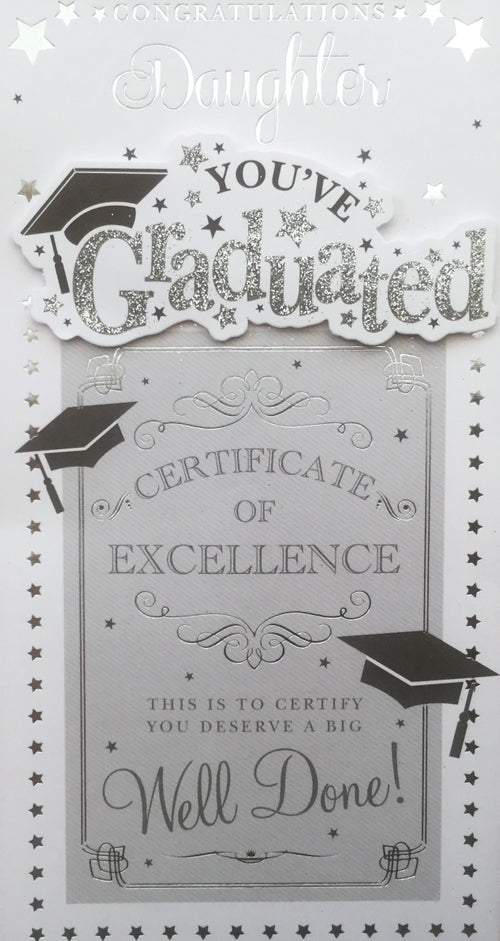 Congratulations Daughter You've Graduated Greeting Card