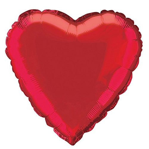Red Heart Shape Helium Filled Foil Balloon