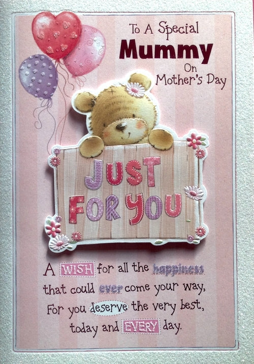 To A Special Mummy On Mother's Day Greeting Card