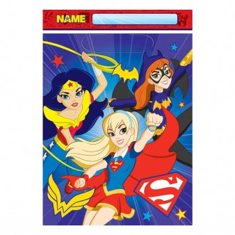 DC Super Hero Girls Party Loot Bags x8