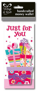 Just For You Pink Presents Handcrafted Money Wallet
