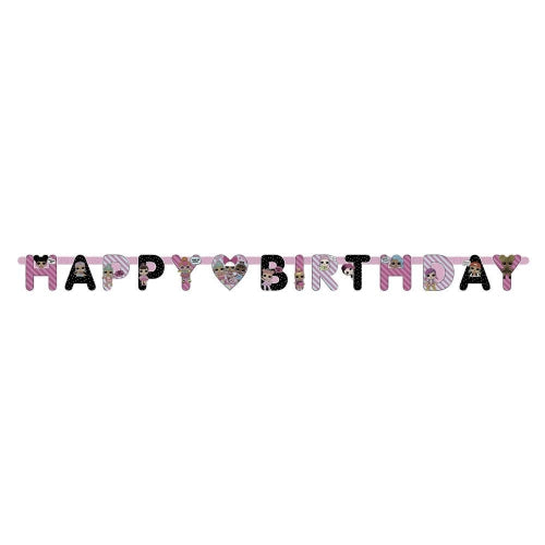 L.O.L. Surprise Happy Birthday Letter Banner