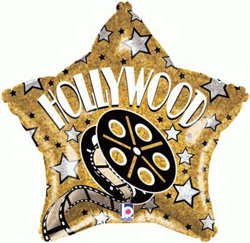 Hollywood Star Helium Filled Foil Balloon