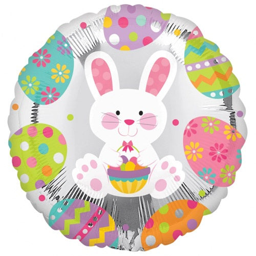 Enchanted Easter Bunny Helium Filled Foil Balloon