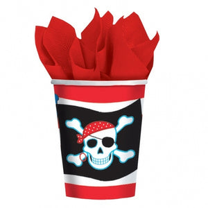 Pirate Paper Party Cups x8