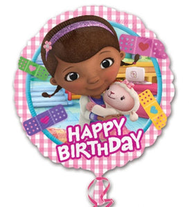 Doc McStuffins Happy Birthday Helium Filled Foil Balloon