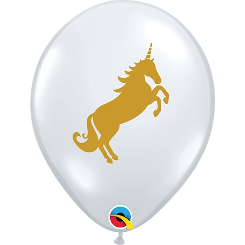 Unicorn Diamond Clear 2-Sided Print Latex Balloon (Sold loose)