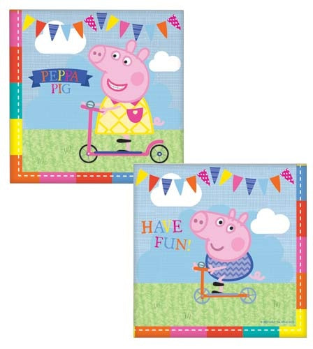 Peppa Pig Party Napkins x16