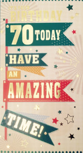 It's Your Birthday 70 Today Greeting Card
