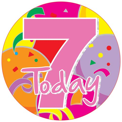7 Today Jumbo Badge