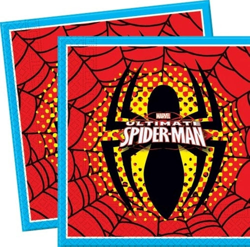 Spiderman Party Napkins x20
