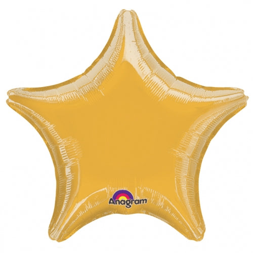 Gold Star Shape Helium Filled Foil Balloon