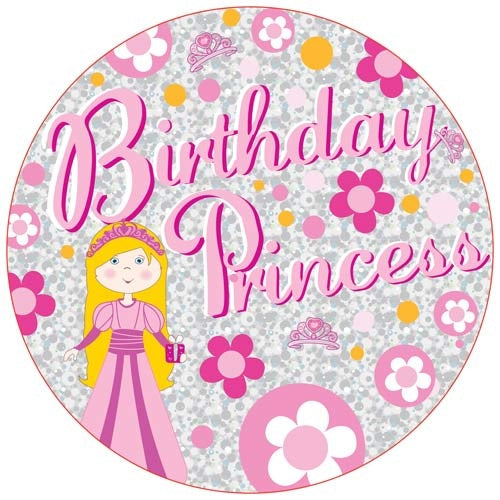 Birthday Princess Jumbo Badge