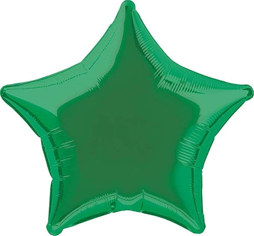 Green Star Shape Helium Filled Foil Balloon