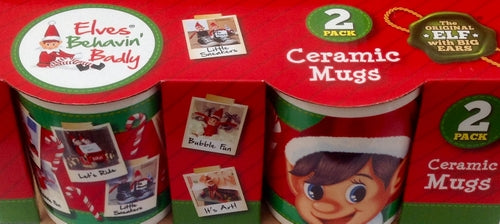 Elves Behavin' Badly Ceramic Mugs 2 Pack