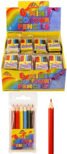 6 Mini Colour Pencils