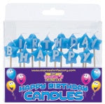 Happy Birthday Blue Star Shape Candle Set