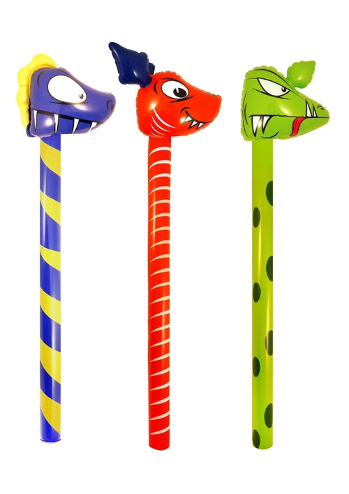 Dinosaur Stick 118cm In 3 Assorted Colours