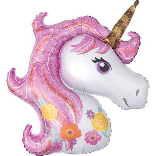 Pink Magical Unicorn Supershape Helium Filled Foil Balloon