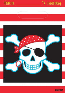 Pirate Party Loot Bags x8