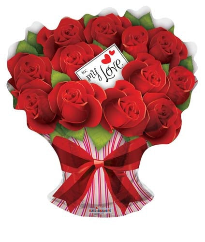 For My Love Rose Bouquet Helium Filled Supershape Foil Balloon