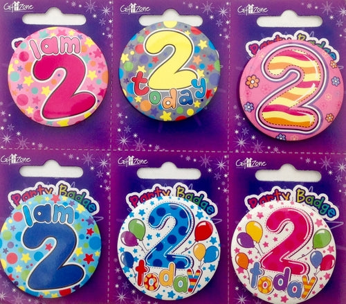 Age 2 Small Birthday Badge